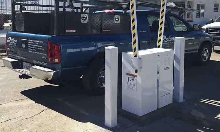 Custom Security Gate and Lift Arm Opener Control System with Vehicle Barriers Install - South Lake Tahoe, Ca