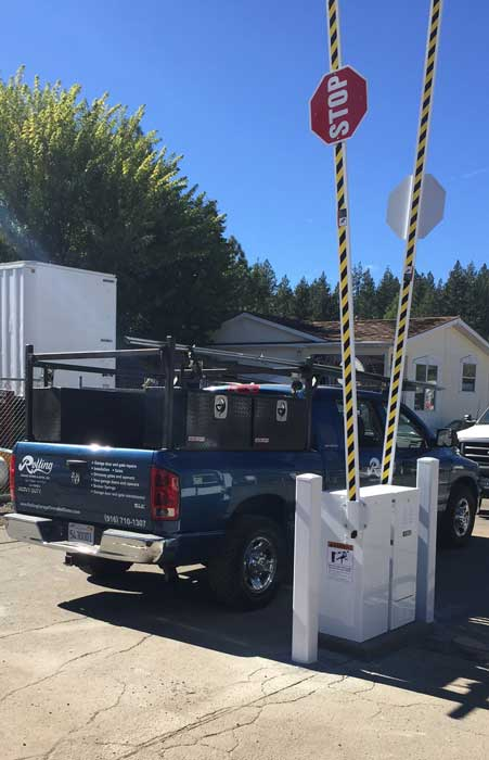 Custom Lift-Arm Security Gate Installation in South Lake Tahoe, CA.
