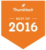 Best Of 2016 Services Award from Thumbtack.com